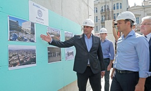 Obilazak radova na izgradnji Soping centra Rajiceva
